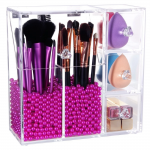 Cosmetic Organizer Box With Glossy Rosy Pearl