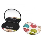 Leather Makeup Compact Pocket Mirror