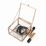 Rose Golden Makeup Accessory Box