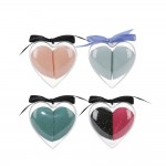 2pcs Heart makeup blender case