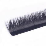 V shape natural curl eyelashes extension
