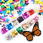 Holographic Nail Art Sequins Butterfly Glitters