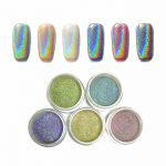 Loose Powder Holographic Nail Art